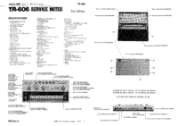 Manuale di servizio Roland TR-606