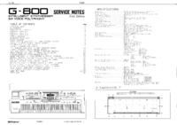 Manual de servicio Roland G-800