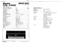 Serviceanleitung Roland Rhodes VK-1000