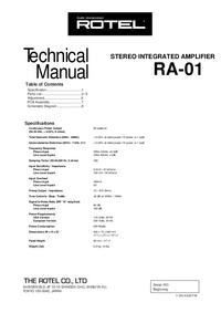 Manual de serviço Rotel RA-01