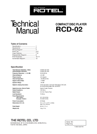 Service Manual Rotel RCD-02
