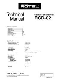 Manual de serviço Rotel RCD-02