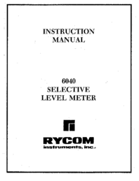 Manual del usuario Rycom 6040