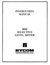 Gebruikershandleiding Rycom 6040