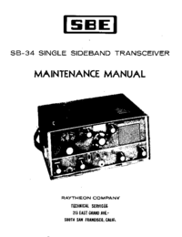Service and User Manual SBE SB-34