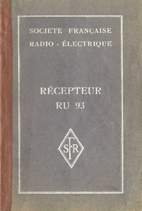 Service and User Manual SFR RU93