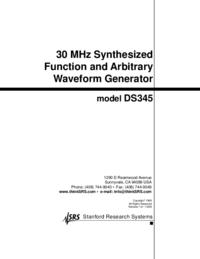 Bedienungsanleitung SRS DS345