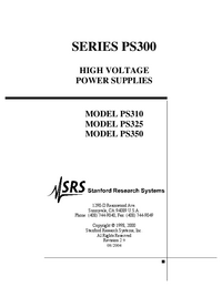 User Manual SRS PS310
