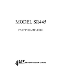 Manual del usuario SRS SR445