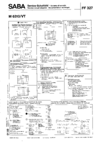 Cirquit Diagram Saba M 6310/VT