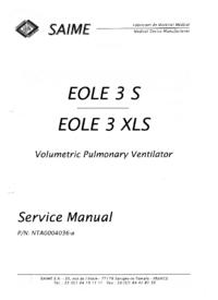 Instrukcja serwisowa Saime EOLE 3 S