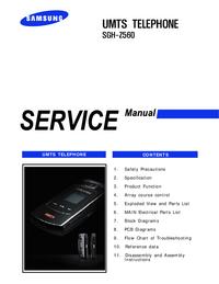 Service Manual Samsung SGH-Z560