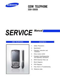 Service Manual Samsung SGH-D900i