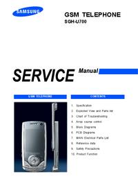 Instrukcja serwisowa Samsung SGH-U700