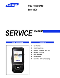 Instrukcja serwisowa Samsung SGH-D600