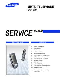 Instrukcja serwisowa Samsung SGH-L760