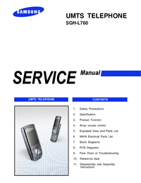 Servicehandboek Samsung SGH-L760