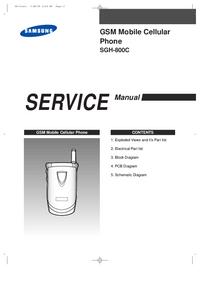 Serviceanleitung Samsung SGH-800C