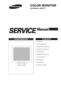 Servicehandboek Samsung SyncMaster 800TFT