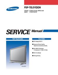 Manual de servicio Samsung PS42E7SX/XEC