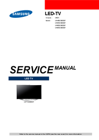 Instrukcja serwisowa Samsung UN60ES8000F
