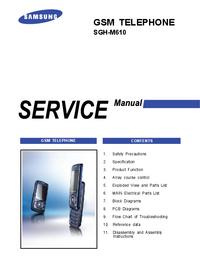 Manuale di servizio Samsung SGH-M610