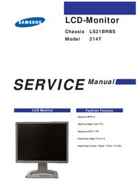 Manual de servicio Samsung 214T