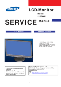 Service Manual Samsung 2220WM