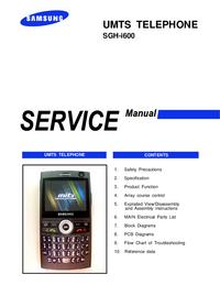 Manual de serviço Samsung SGH-i600