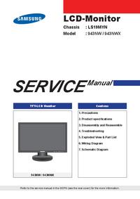 Instrukcja serwisowa Samsung 943NWX