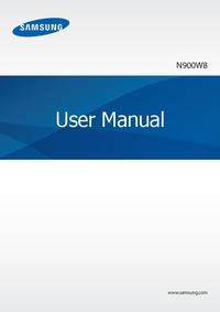 User Manual Samsung N900W8