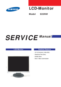 Service Manual Samsung 920NW