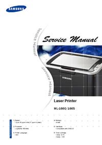 Manual de serviço Samsung ML-1665