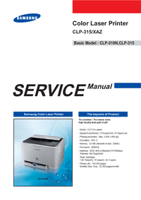 Service Manual Samsung CLP-315