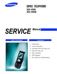 manuel de réparation Samsung SGH-D500E
