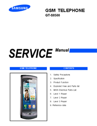 Service Manual Samsung GT-S8500