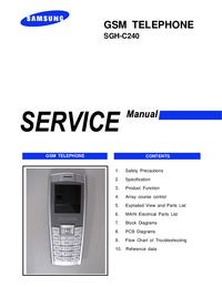 manuel de réparation Samsung SGH-C240