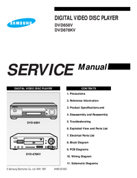 Service Manual Samsung DVD858V