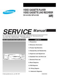 Руководство по техническому обслуживанию Samsung SP-A12G
