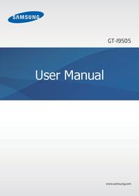 Manuel de l'utilisateur Samsung Galaxy S4 GT-I9505