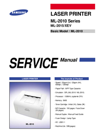 Service Manual Samsung ML-2010 Series