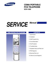 Instrukcja serwisowa Samsung SCH-1900