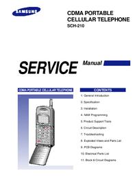 Руководство по техническому обслуживанию Samsung SCH-210