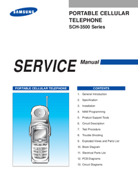 Service Manual Samsung SCH-3500