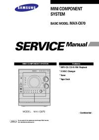 Servicehandboek Samsung MAX-C670