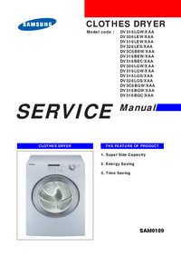 Manual de servicio Samsung DV316LGS/XAA