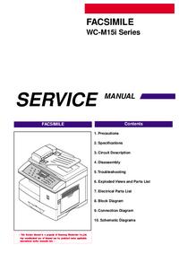 Service Manual Samsung WC-M15i Series