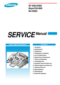 Service Manual Samsung SF-4500/4500C