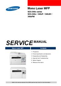 Руководство по техническому обслуживанию Samsung SCX-340xF