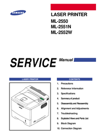 Manual de servicio Samsung ML-2552W